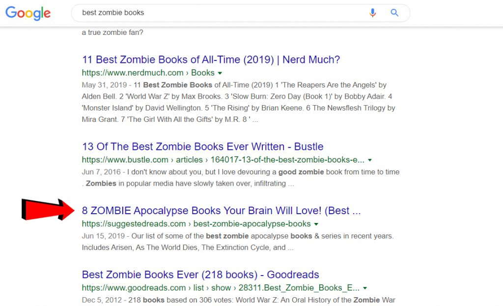 Best zombie books picture
