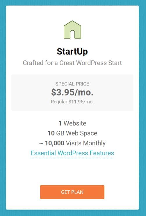 SiteGround Startup Plan 2