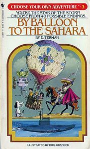 Best Choose Your Own Adventure Books By Balloon to the Sahara